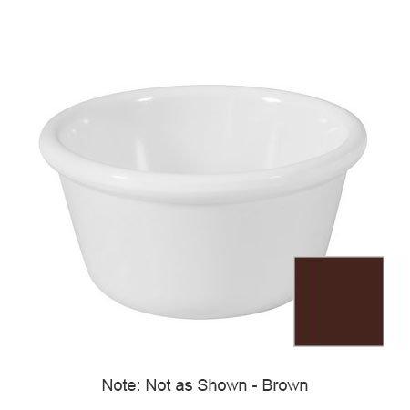 "GET RM-388-BR 3-oz Plain Ramekin, 3.25"" Diam x 1.75"" Deep, Brown Melamine"