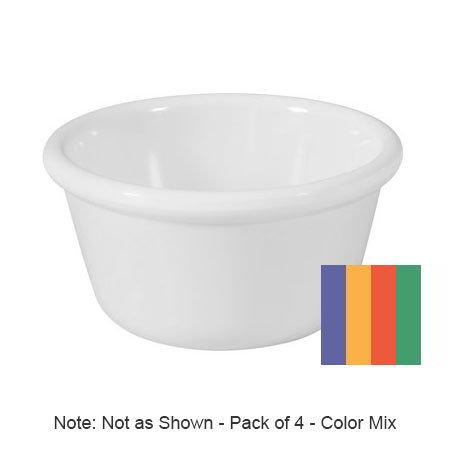 GET RM-388-MIX 3-oz Ramekin, Plain, Melamine, Mardi Gras Mix