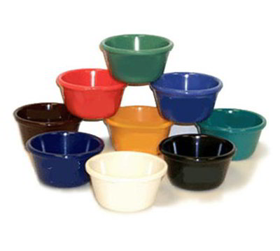 Get RM-400-FG 4oz Ramekin, Plain Cone-Shaped, Melamine, Rainforest Green