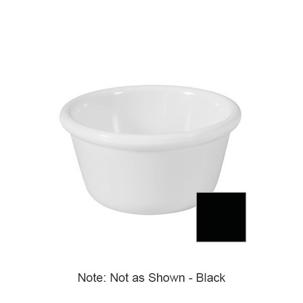 GET RM-400-BK 4oz Ramekin, Plain Cone-Shaped, Melamine, Black
