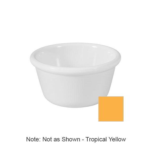 GET RM-400-TY 4oz Ramekin, Plain Cone-Shaped, Melamine, Tropical Yellow