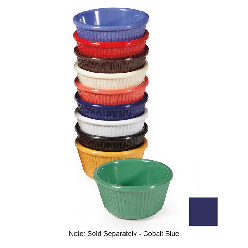GET RM-401-CB 4oz Ramekin, Fluted, Melamine, Cobalt Blue