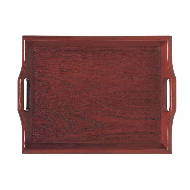 "GET RST-1814-N 18 x 14"" Room Service Tray, Hardwood, Natural"