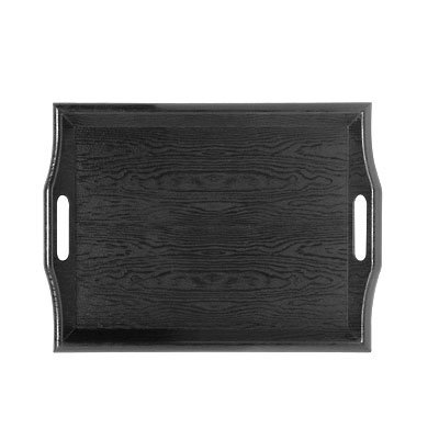 "GET RST-1815-1-BK Rectangular Room Service Tray, 19x14-1/4"" , Black"