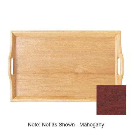 "GET RST-2516-M 25 x 16"" Room Service Tray, Hardwood, Mahogany"