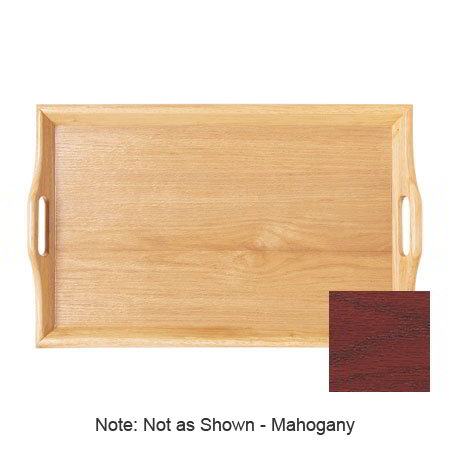 "GET RST-2517-M 25 x 16""Room Service Tray, Plastic, Wood Look, Mahogany"