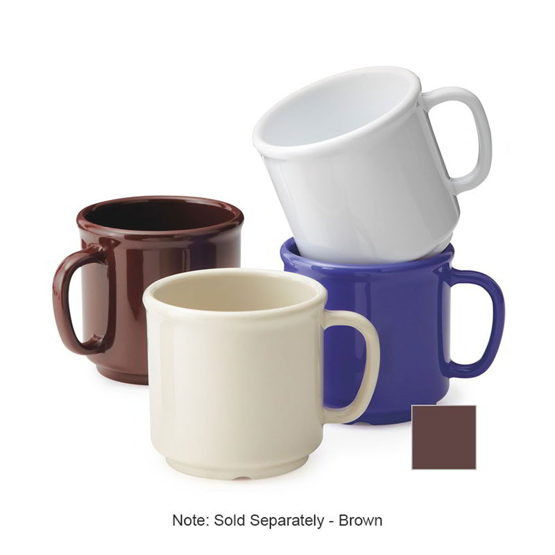 GET S-12-BR Coffee Mug, 12-oz, Plastic, Brown