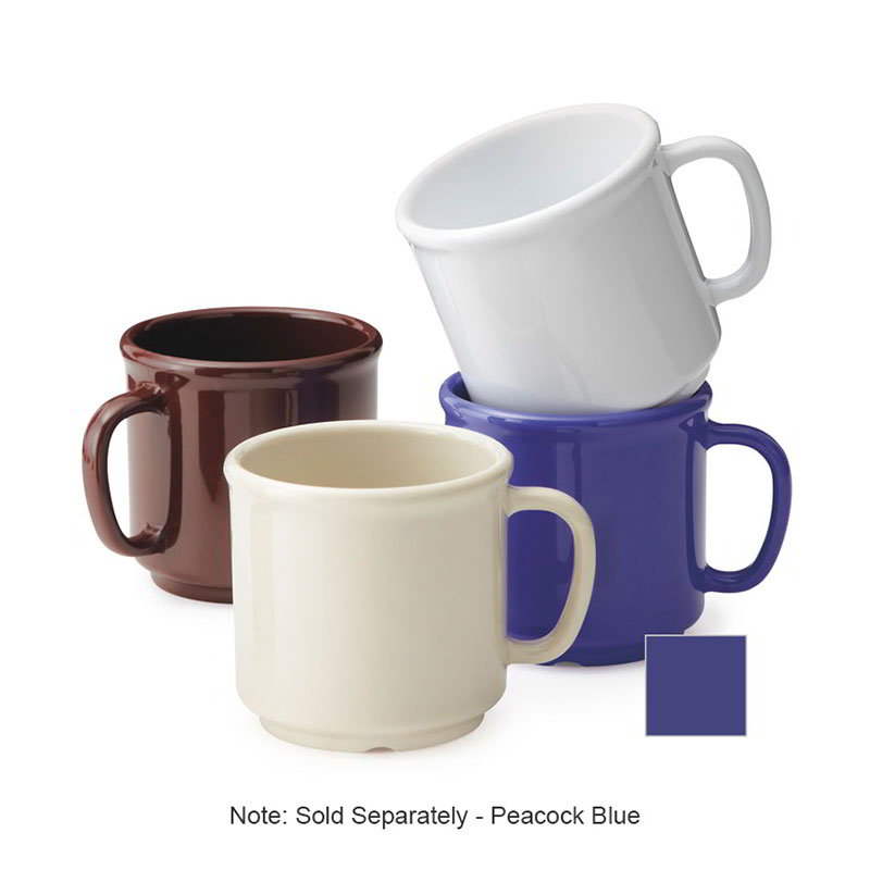 GET S-12-PB Coffee Mug, 12-oz, Plastic, Peacock Blue
