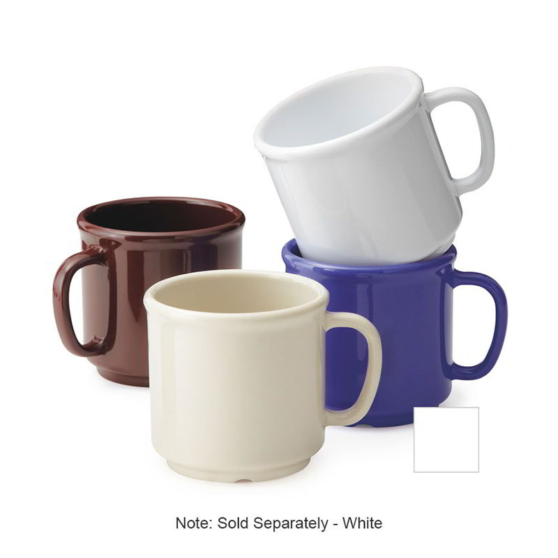 GET S-12-W Coffee Mug, 12-oz, Plastic, White
