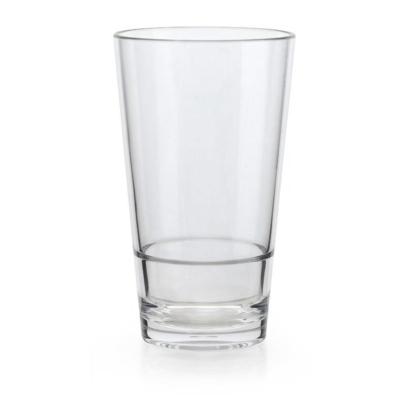 GET S-17-CL 16-oz Pint Glass - Stackable, Clear Plastic