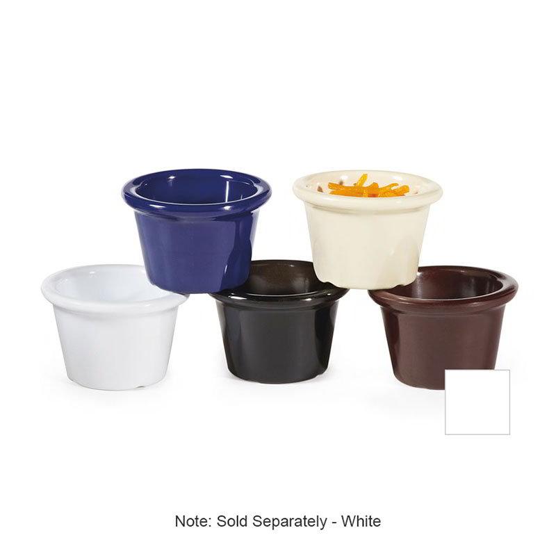 GET S-610-W 1-1/2-oz Ramekin, Plain, Melamine, White