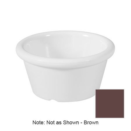 "GET S-620-BR 2-oz Plain Cone Shaped Ramekin, 2.75"" Diameter, Brown Melamine"