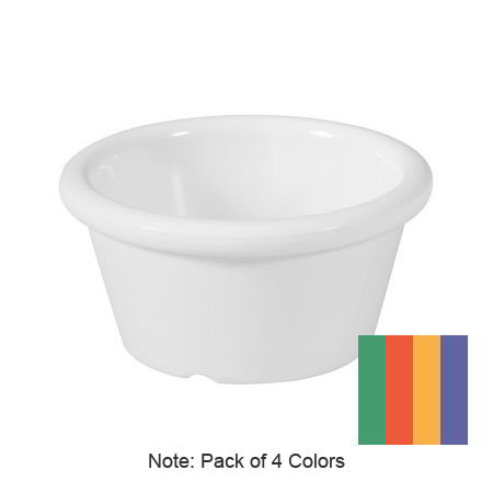 GET S-620-MIX 2-oz Ramekin, Plain, Melamine, Mardi Gras Mix