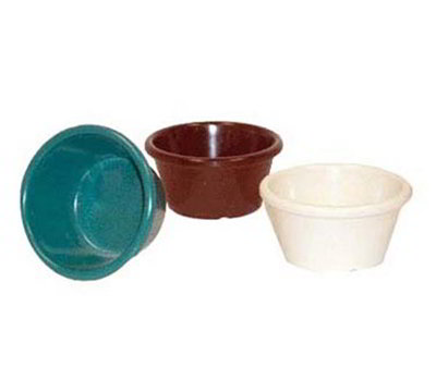 Get S-660-R 6 oz Ramekin, Plain, Melamine, Red