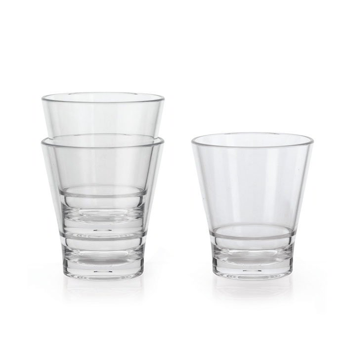 GET S-9-CL 9-oz Revo Rocks Glass - Plastic