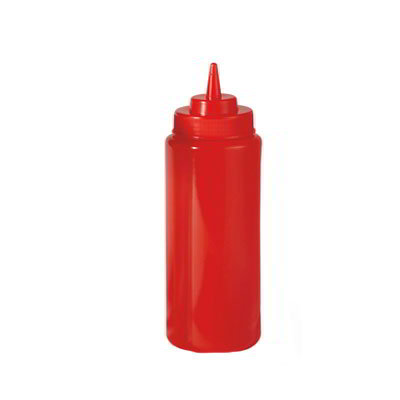 GET SB-16-R 16-oz Squeeze Bottle w/ Lid & Wide Mouth, Red
