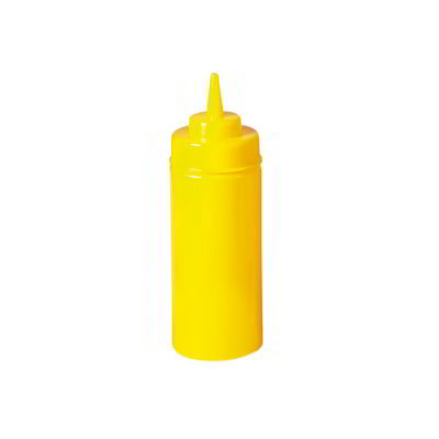 GET SB-16-Y 16-oz Squeeze Bottle w/ Lid & Wide Mouth, Yellow