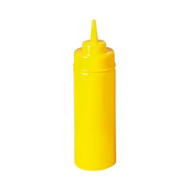 GET SB-32-Y 32-oz Squeeze Bottle w/ Lid & Wide Mouth, Yellow