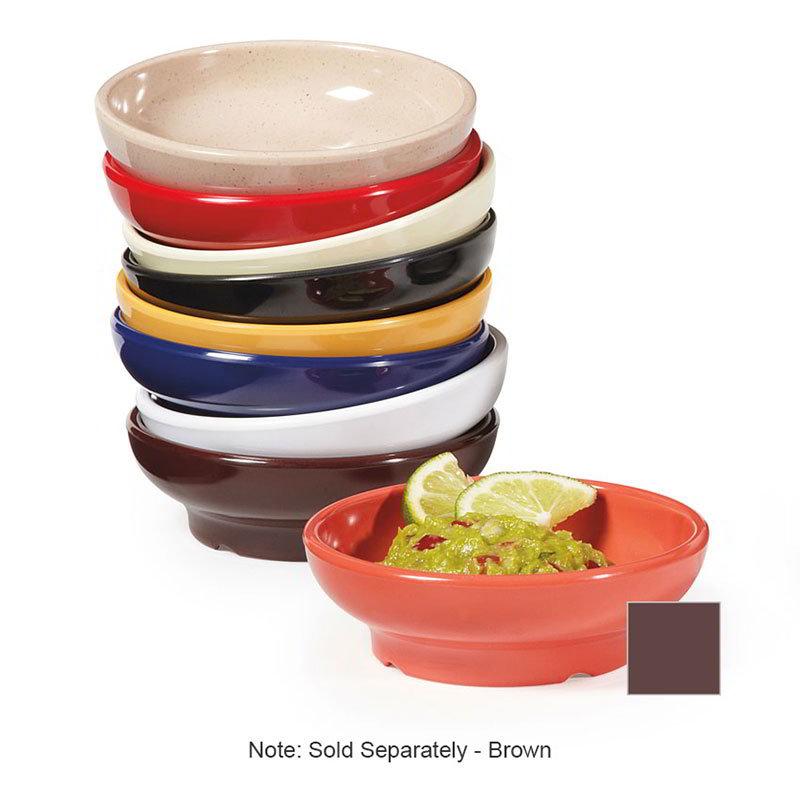 "GET SD-05-BR 4"" Viva Mexico Salsa Plastic Dish w/ 5-oz Capacity, Brown"