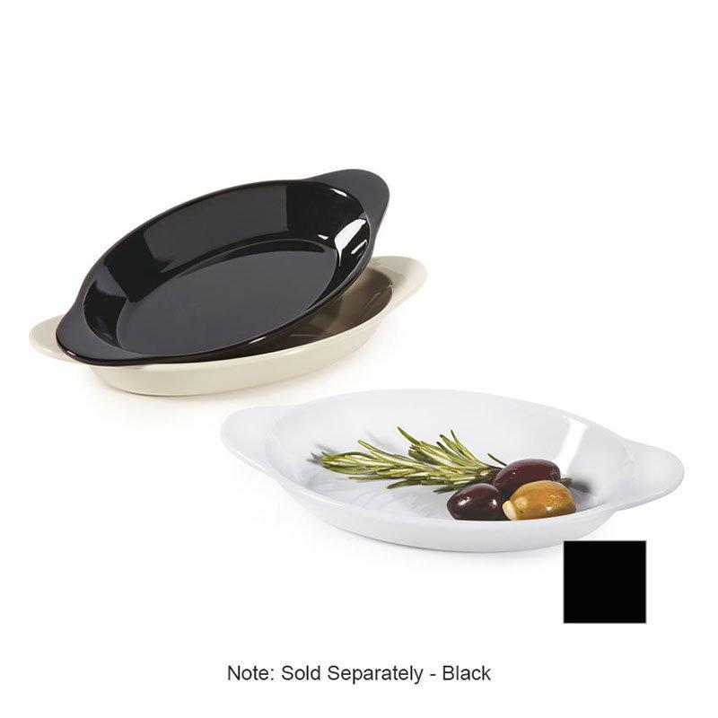 GET SD-08-BK Salsa Dish, 8-oz, Melamine, Black