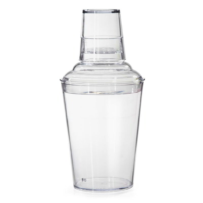 GET SH-175-CL 17.5 oz, 3 Piece Plastic Shaker Set - Clear