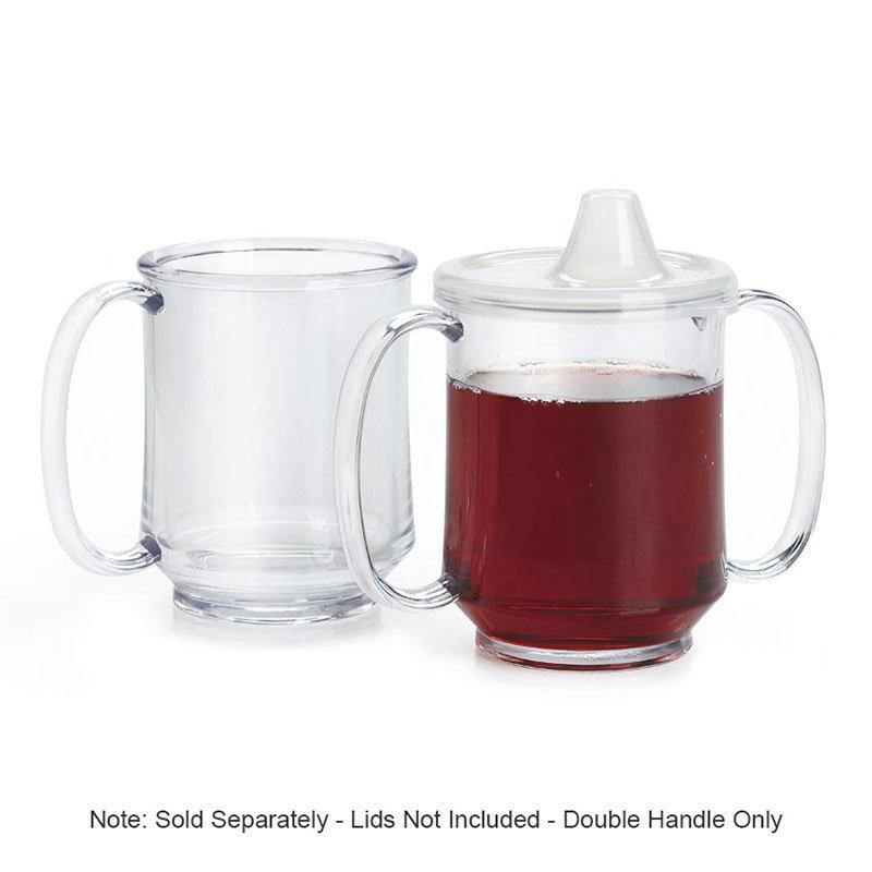 "GET SN-103-CL 8-oz Healthcare Mug w/ 2-Handles, 3.25"" Diameter, Clear Plastic"