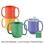 GET SN-103-FG 10-oz Plastic Mug, Double Handle, BPA Free, Rainforest Green