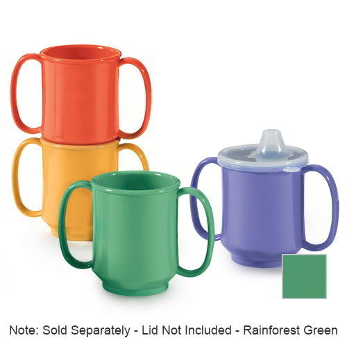 GET SN-103-PB 10-oz Plastic Mug, Double Handle, BPA Free, Peacock Blue
