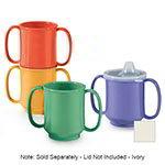 GET SN-103-IV 10-oz Plastic Mug, Double Handle, BPA Free, Ivory
