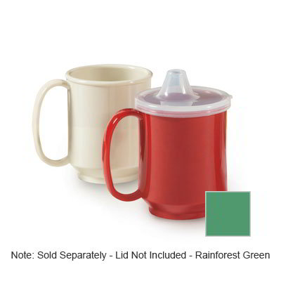 GET SN-104-FG 10-oz Plastic Mug, Single Handle, BPA Free, Rainforest Green