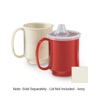 GET SN-104-IV 10-oz Plastic Mug, Single Handle, BPA Free, Ivory