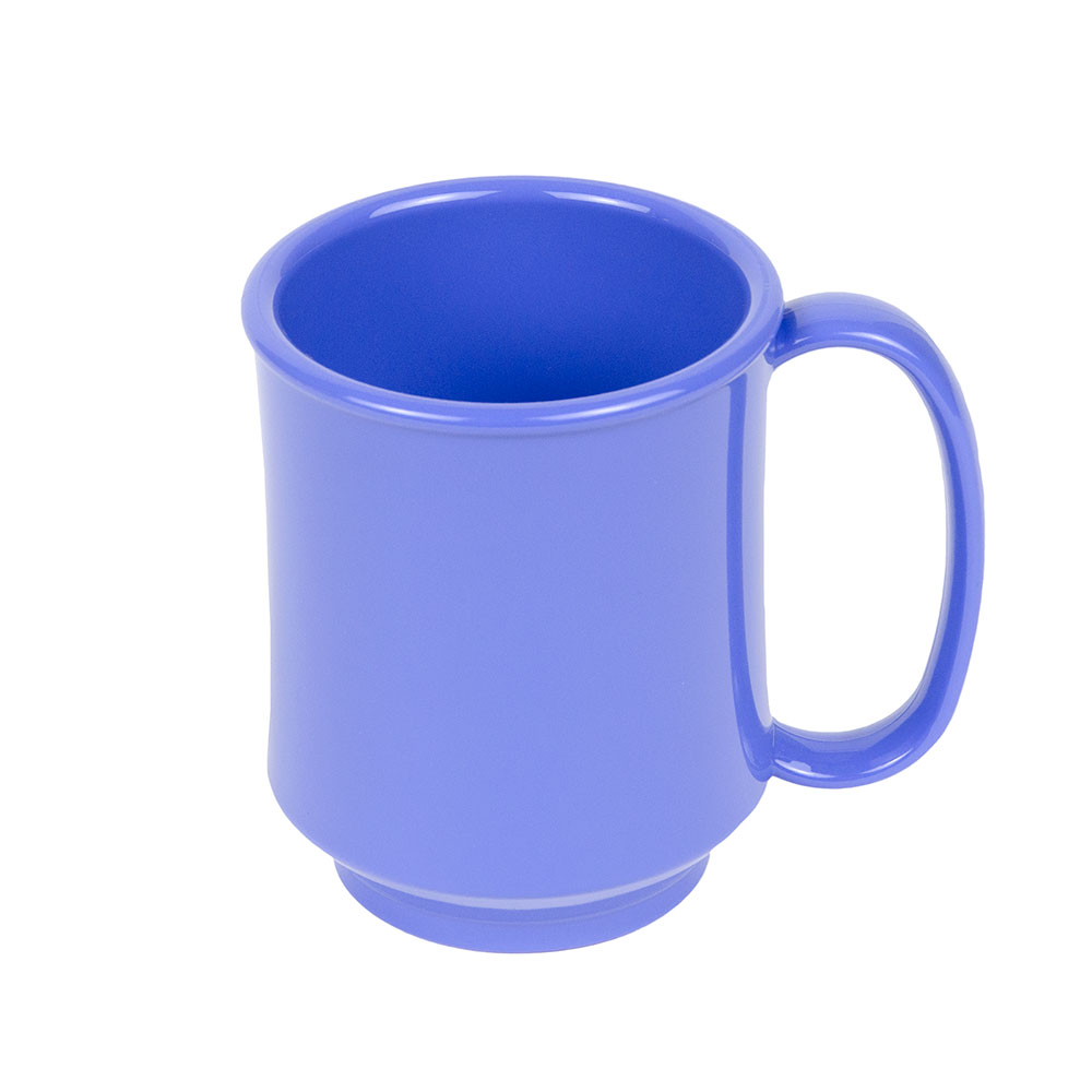 GET SN-104-PB 10-oz Plastic Mug, Single Handle, BPA Free, Peacock Blue