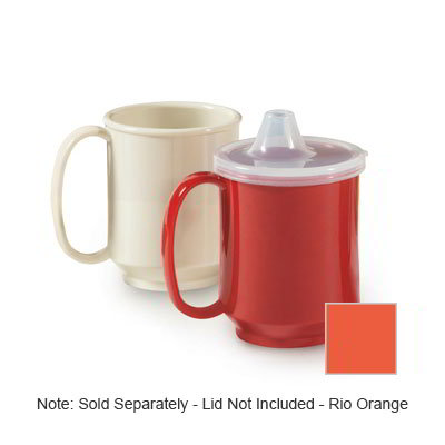 GET SN-104-RO 10-oz Plastic Mug, Single Handle, BPA Free, Rio Orange