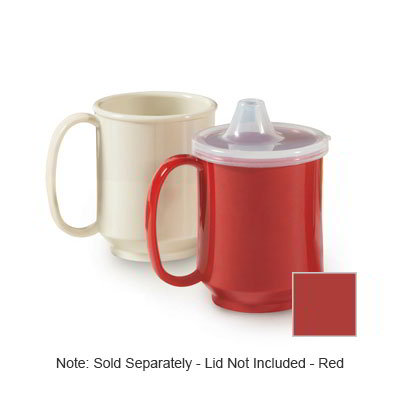 GET SN-104-RSP 10-oz Plastic Mug, Single Handle, BPA Free, Red Sensation