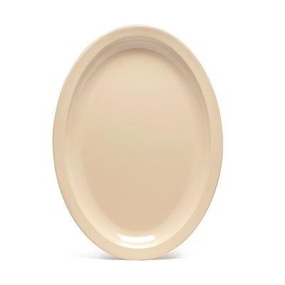 """GET SP-OP-612-T Oval Supermel I Platter, 11.75 x 8.25"""", Tan Melamine"""