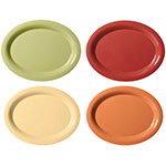 """GET SP-OP-950-COMBO Oval Melamine Platter, 9-3/4 x 7.25"""", Harvest Colors"""