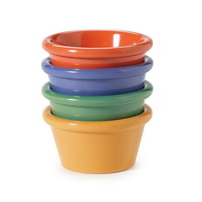GET SP-S-620-MIX 2-oz Plain Cone Shaped Ramekin, Diamond Mardi Gras Colors