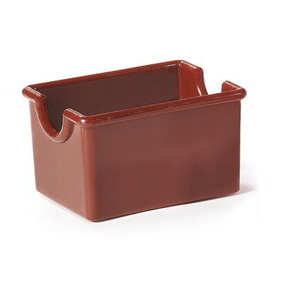 "GET SP-SC-66-BR Plastic Sugar Caddy, 3.5 x 2.5 x 2"" Deep, Brown"