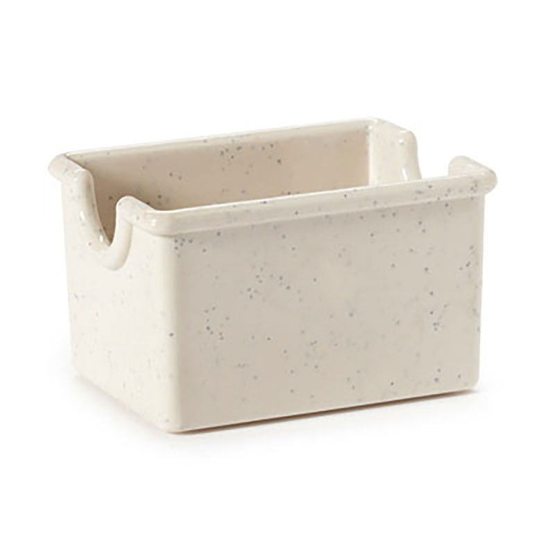 "GET SP-SC-66-IR Plastic Sugar Caddy, 3.5 x 2.5 x 2"" Deep, Ironstone"