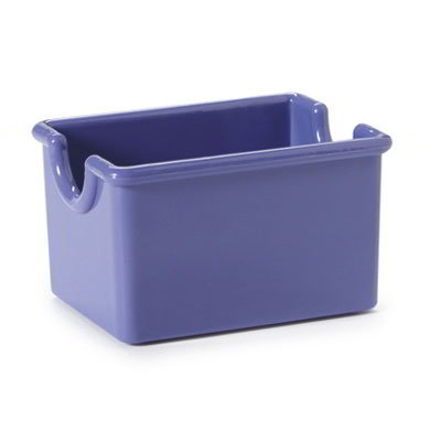 "GET SP-SC-66-PB Plastic Sugar Caddy, 3.5 x 2.5 x 2"" Deep, Peacock Blue"