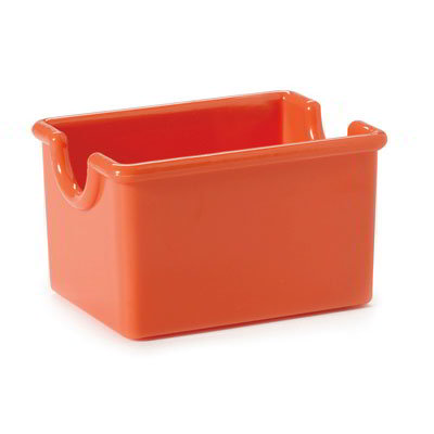 "GET SP-SC-66-RO Plastic Sugar Caddy, 3.5 x 2.5 x 2"" Deep, Rio Orange"