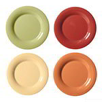 "GET SP-WP-12-COMBO 12"" Melamine Plate w/ Wide Rim, Harvest Colors"