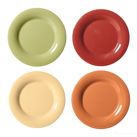 "GET SP-WP-9-COMBO 9"" Melamine Plate w/ Wide Rim, Harvest Colors"