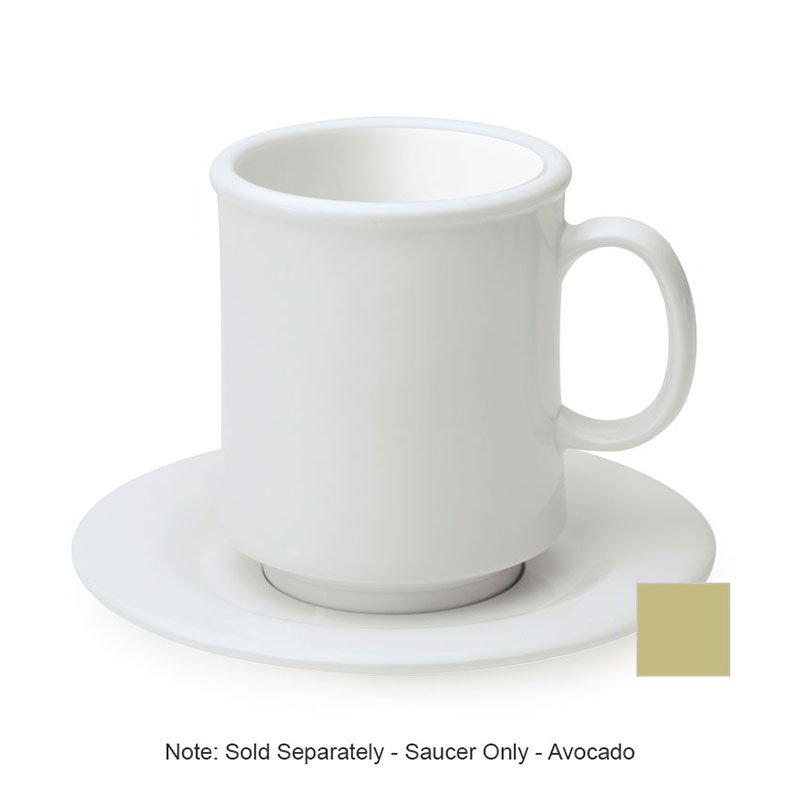 "GET SU-2-AV 5.5"" Melamine Saucer For C-108, TM-1208 & TM-1308, Avocado"
