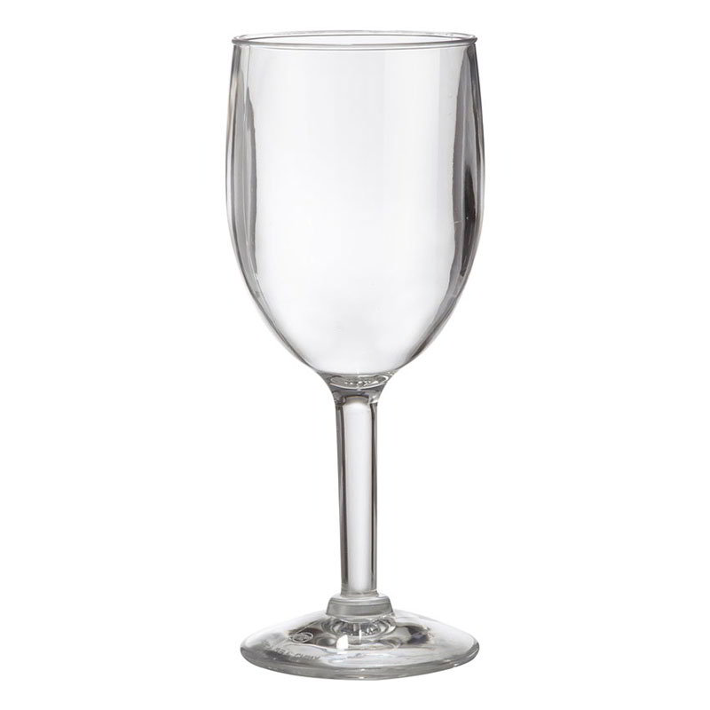 Get SW-1404-1-SAN-CL 8-oz Wine Glass, Clear Plastic