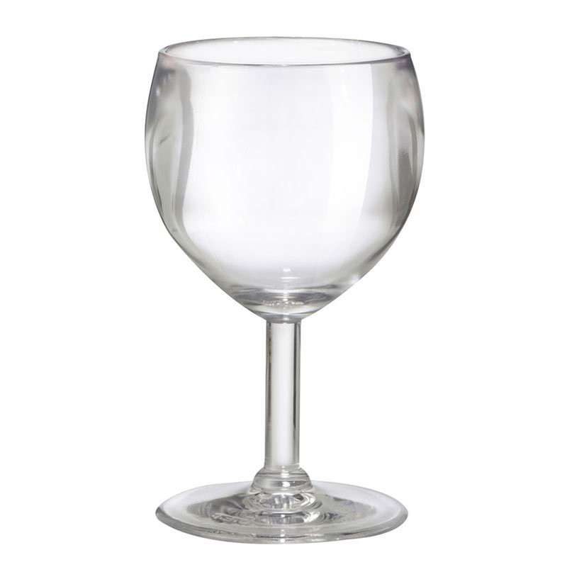 GET SW-1406-1-SAN-CL 6-oz Wine Glass, Clear Plastic