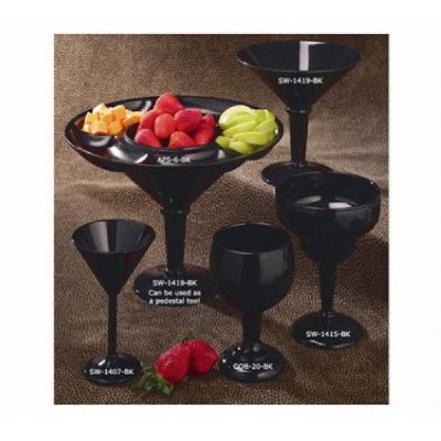 GET SW-1415-SAN-BK 38-oz Super Margarita Glass, Black Plastic