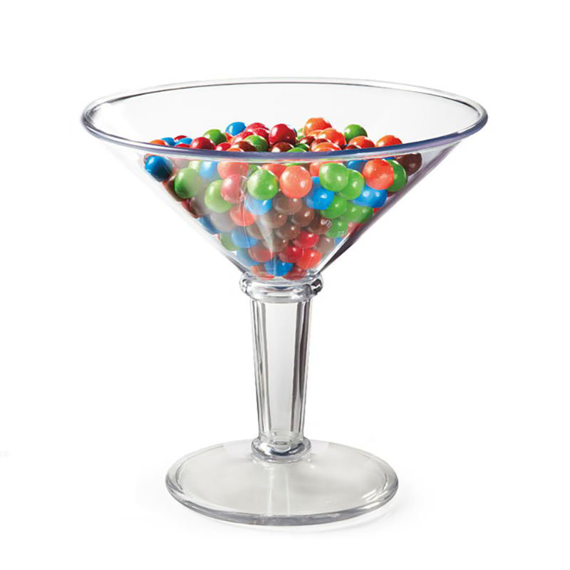 "GET SW-1419-1-SAN-CL 48-oz Super Martini Glass, 9.25"" Diameter x 9"" Tall, Clear Plastic"
