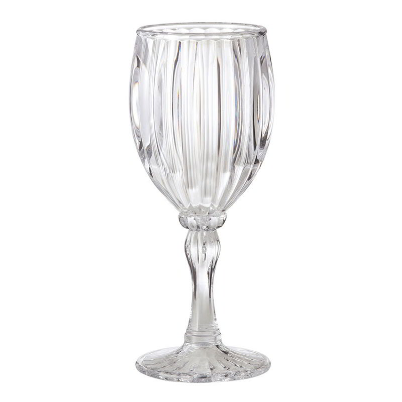 "GET SW-1422-1-SAN-CL 8-oz Fluted Wine Glass, 7.25"" Tall, Clear Plastic"