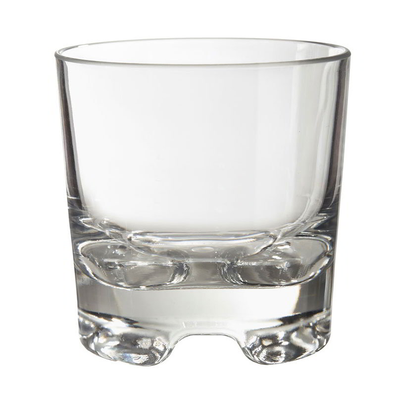 GET SW-1423-1-SAN-CL 9-oz Roc N Roll Rocks Glass, Clear Plastic
